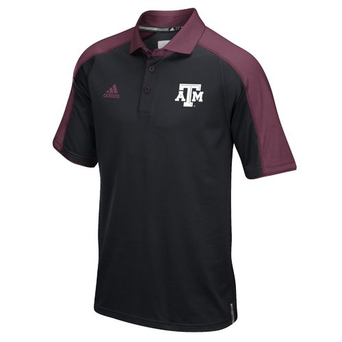 adidas™ Men's Texas A&M University Sideline Polo Shirt