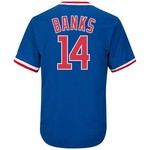 Majestic Men's Chicago Cubs Ernie Banks #14 Cooperstown Cool Base 1968-69 Replica Jersey