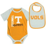 Colosseum Athletics Infants' University of Tennessee Rookie Onesie and Bib Set