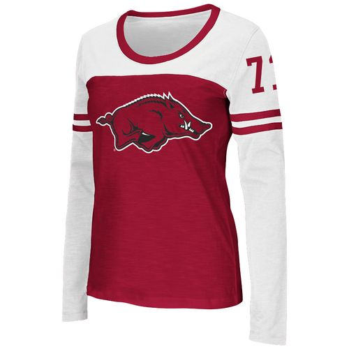 Colosseum Athletics™ Women's University of Arkansas Hornet Football Long Sleeve T-shirt