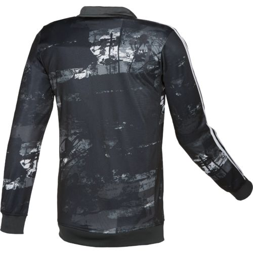 adidas Men's Essentials Elemental Raw Print Track Jacket - view number 3