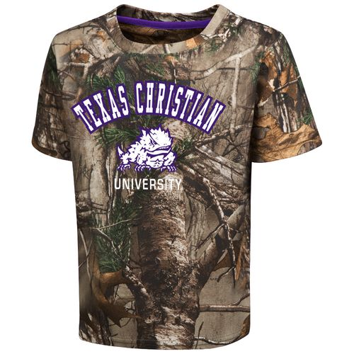 Colosseum Athletics™ Toddler Boys' Texas Christian University Blacktail Camo T-shirt