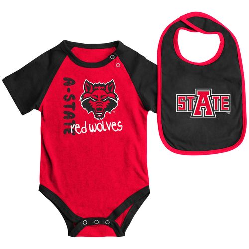 Colosseum Athletics Infants' Arkansas State University Rookie Onesie and Bib Set