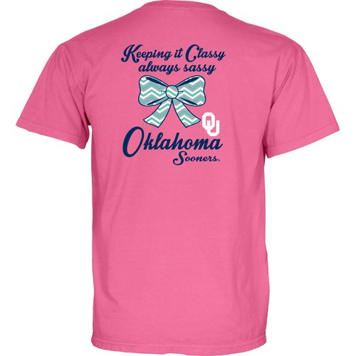 Blue 84 Women's University of Oklahoma Bow Tie Overdyed T-shirt