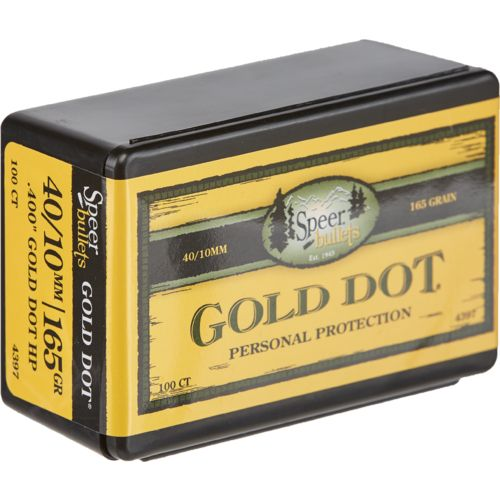 Speer Gold Dot .40 165-Grain Hollow Point Handgun Bullets