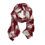ZooZatz Women's University of Oklahoma Buffalo Check Collegiate Scarf