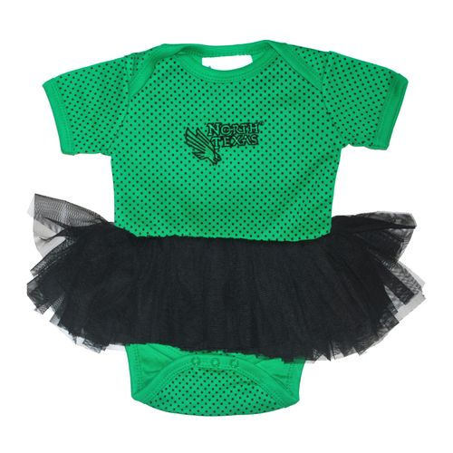 Two Feet Ahead Infant Girls' University of North Texas Pin Dot Tutu Creeper - view number 1