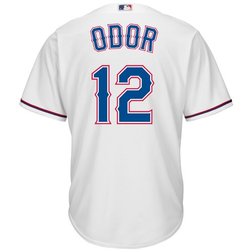 Majestic Men's Texas Rangers Rougned Odor #12 Cool Base Replica Jersey