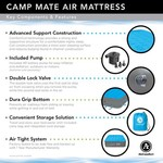 Air Comfort Camp Mate Raised Queen-Size Air Mattress with Battery-Powered Pump - view number 10