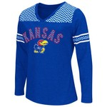 Colosseum Athletics™ Girls' University of Kansas Cupie Long Sleeve Shirt