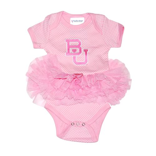 Two Feet Ahead Infant Girls' Baylor University Pin Dot Tutu Creeper