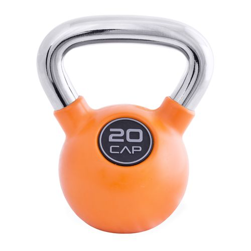 CAP Barbell Rubber-Coated 20 lb. Kettlebell with Chrome Handle