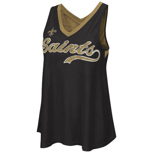G-III for Her Women's New Orleans Saints Neutral Zone Tank Top
