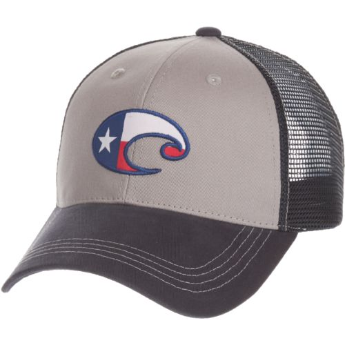 Costa Del Mar Men's Texas Flag Trucker Hat