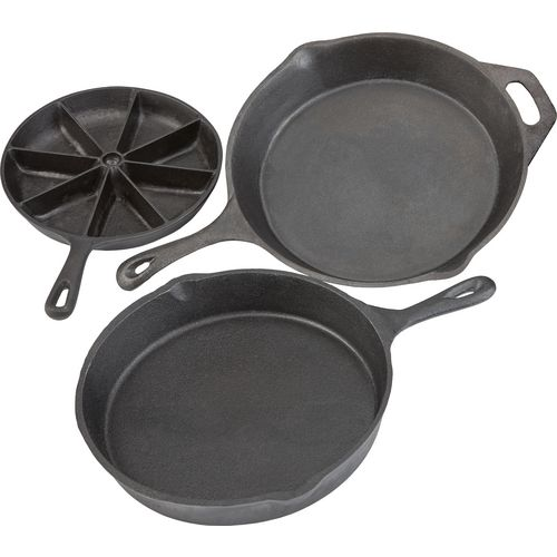 Outdoor Gourmet 3-Piece Cast-Iron Skillet Set