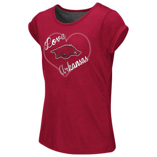 Colosseum Athletics™ Girls' University of Arkansas Baywatch Split Back T-shirt - view number 1