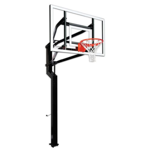 Goalsetter Captain 60' Tempered-Glass Inground Basketball System