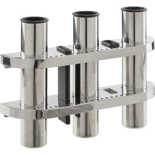 Marine Raider Stainless-Steel 3-Rod Holder