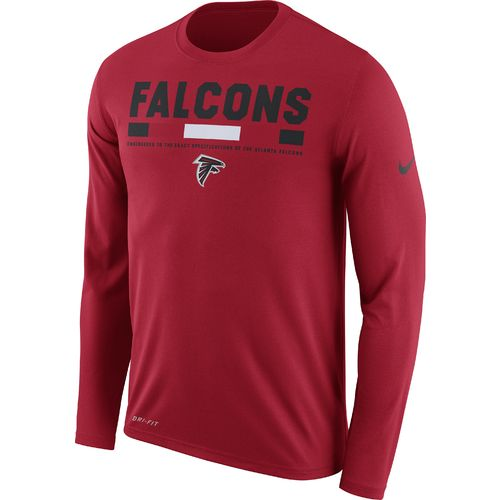Nike Men's Atlanta Falcons Dry Legend Onfield Long Sleeve T-shirt