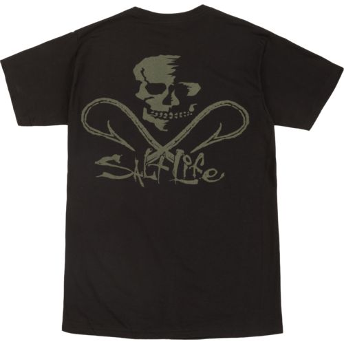 Salt Life Men's Skull and Hooks Short Sleeve T-shirt - view number 4