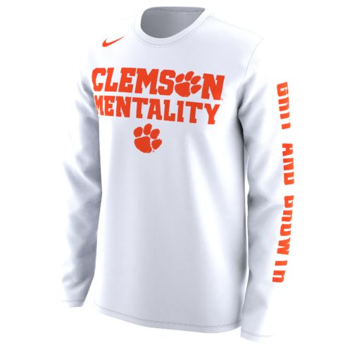 Nike Men's Clemson University Basketball Legend Mentality Bench T-shirt