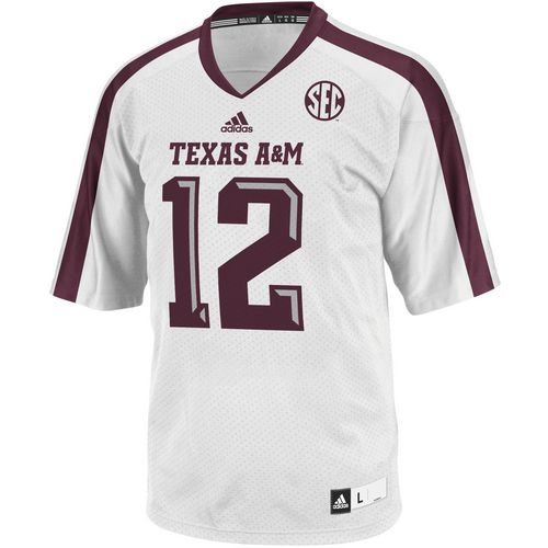 adidas Men's Texas A&M University Replica Football Jersey