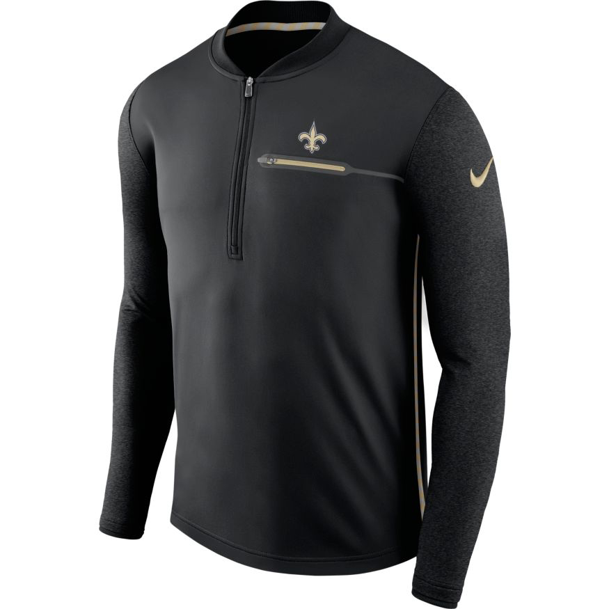 Nike™ Men's New Orleans Saints Coaches 1/2 Zip Pullover