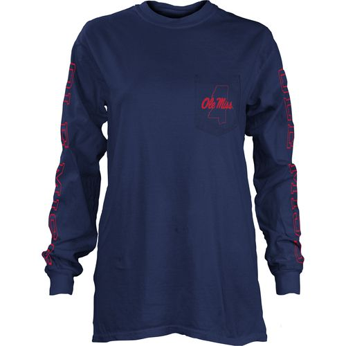 Three Squared Juniors' University of Mississippi Mystic Long Sleeve T-shirt