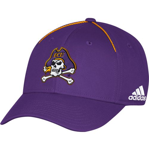 adidas Men's East Carolina University Coach Structured Flex Cap