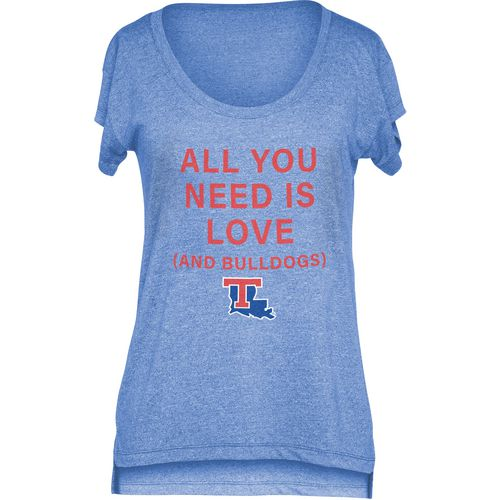 Chicka-d Women's Louisiana Tech University Scoop-Neck T-shirt