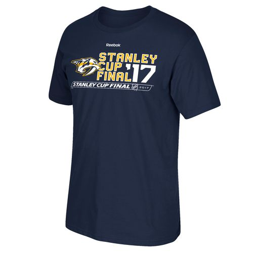 Reebok Men's Nashville Predators 2017 NHL Stanley Cup Finals Type Across T-shirt