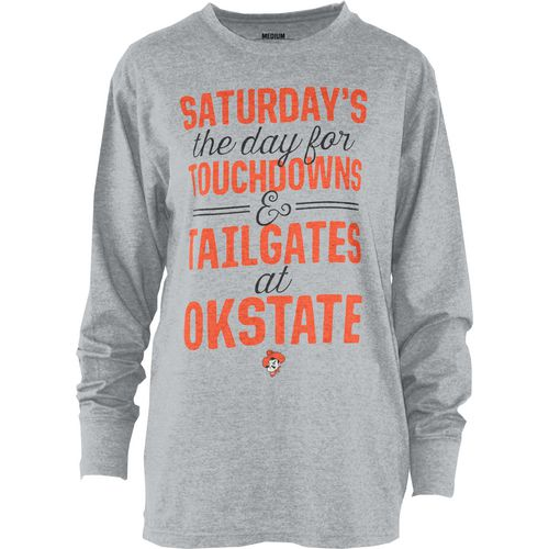 Three Squared Juniors' Oklahoma State University Touchdowns and Tailgates T-shirt