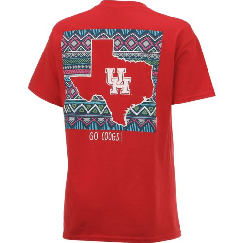 New World Graphics Women's University of Houston Terrain State T-shirt - view number 2