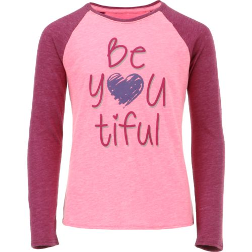 BCG Girls' Beautiful Raglan Long Sleeve T-shirt