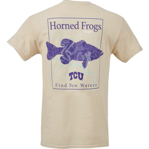 New World Graphics Men's Texas Christian University Angler Topo Short Sleeve T-shirt