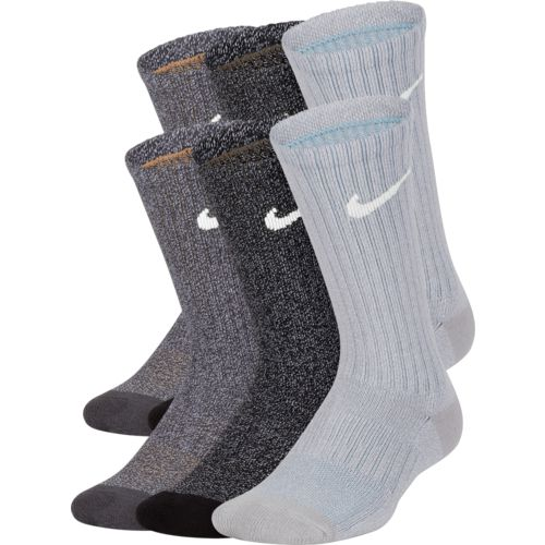Nike Boys' Performance Cushioned Crew Marled Training Socks 6 Pack - view number 2