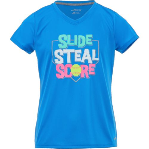 BCG Girls' Slide Steal Score Short Sleeve T-shirt