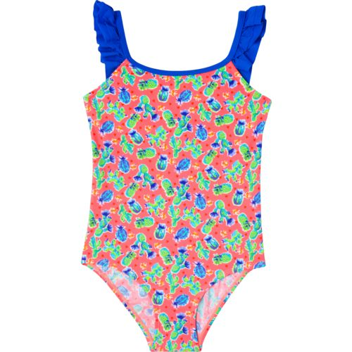 O'Rageous Girls' Cactus Cutie 1-Piece Swimsuit