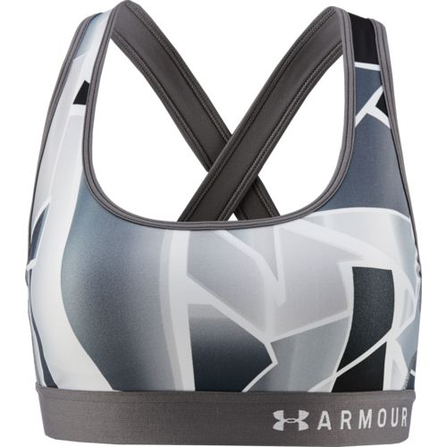 Under Armour Women's Mid Crossback Print Sports Bra
