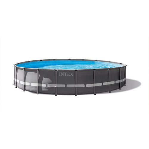 INTEX 20 ft x 48 in Round Ultra Frame Pool Set | Academy