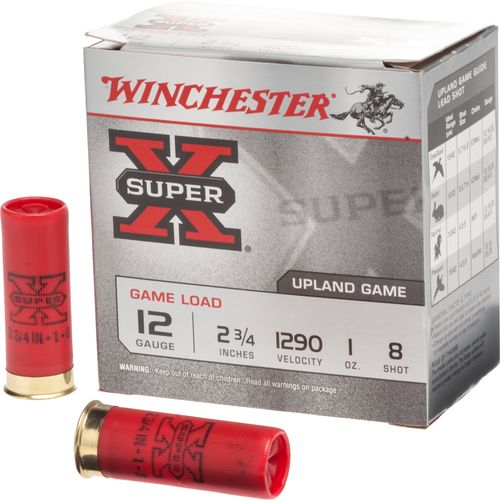 Winchester Super-X® Lead Shot Game Load 12 Gauge 8 Shotshells