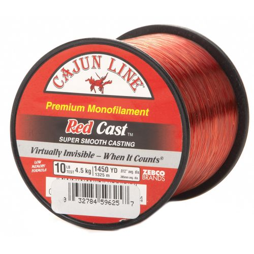 Display product reviews for Cajun Line Red Cast 10 lb. - 1,450 yards Monofilament Fishing Line