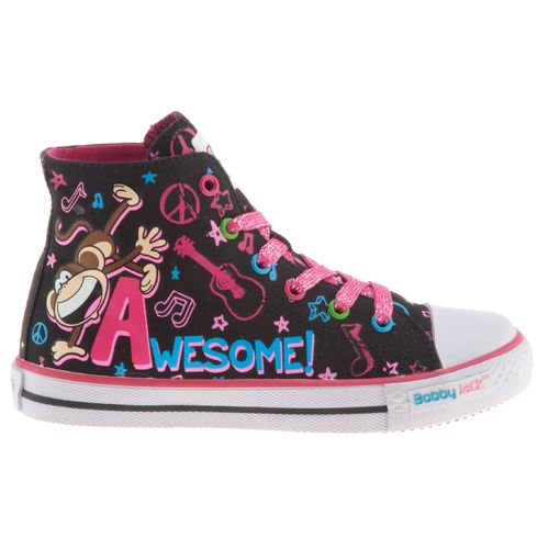Bobby Jack Girls' Awesome Vulcanized High-Top Athletic Lifestyle Shoes