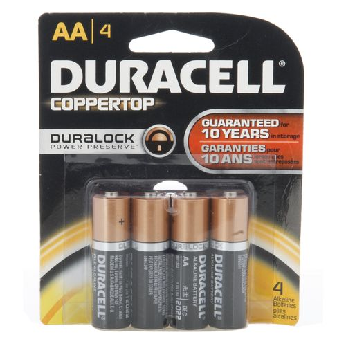 Duracell Coppertop AA Batteries 4-Pack - view number 1