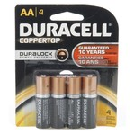 Duracell Coppertop AA Batteries 4-Pack