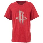 adidas Boys' Houston Rockets Bigger Better Logo Short Sleeve Triblend T-shirt