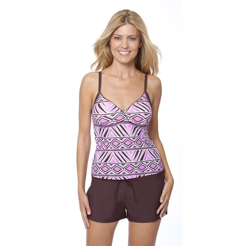 Aqua Couture Women's Tribal Finds Surplice Tankini Swim Top