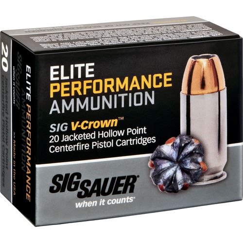 Display product reviews for SIG SAUER Elite V-Crown .40 S&W 165-Grain Centerfire Ammunition