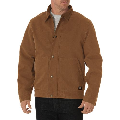 Dickies Men's Sanded Duck Sherpa-Lined Jacket