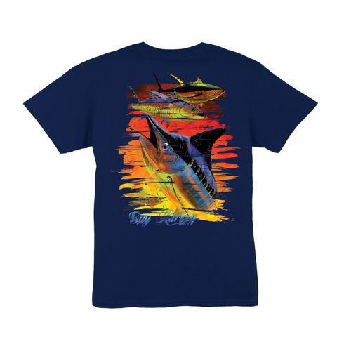 Guy Harvey Boys' Chainsaw Print Graphic T-shirt